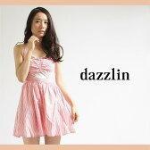 【dazzlin(ダズリン)】ストライプホルターネックワンピース