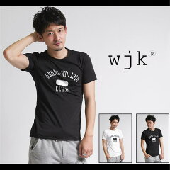 【wjk】【セール10%OFF】【wjk】EVERLAST x wjk printed cutoff c/s s/s (ELWJK) C50 Pe50 Tシャツ