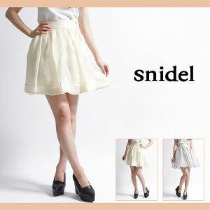 【snidel(スナイデル)】【セール50%OFF】【snidel(スナイデル)】オーガンボリュームミニスカート