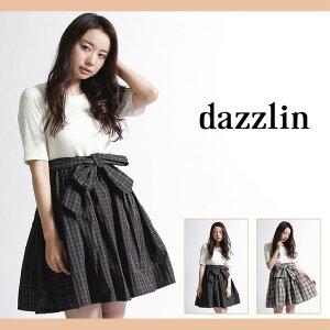 【dazzlin(ダズリン)】【dazzlin(ダズリン)】ニットコンビチェックワンピース