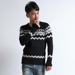 【wjk】【wjk】4 color jacquard pullover ニット
