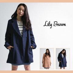 【セール30%OFF】【Lily Brown(リリーブラウン)】メルトンPコート