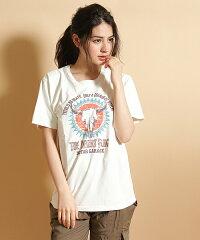 【Ungrid(アングリッド)】02P30May15【Ungrid(アングリッド)】BuffaloプリントTシャツ