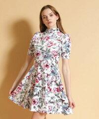 【JOY RICH(ジョイリッチ)】【JOY RICH(ジョイリッチ)】Floral Ave Highneck Dress ワンピース