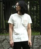 【NO ID.(ノーアイディー)】838205-076T-Cスラブ天竺ニットポケ半袖CN-Tシャツ