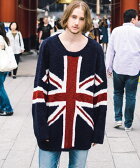 【GLAMB by glamb】GG16WT-KNT03-Union jack knit ユニオンジャックニット