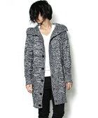 【NO ID.(ノーアイディー)】840010-174K-CニットフーデッドロングJKT ジャケット