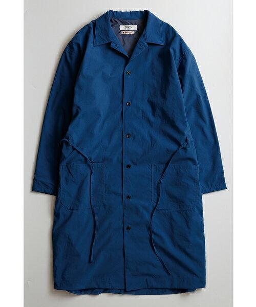 【FDMTL(ファンダメンタル)】【予約販売7月下旬〜8月上旬入荷】FA17/JK37-INDIGO NYLON LONG COAT コート:CAMBIO