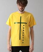 【NO ID.(ノーアイディー)】440013-309T-C天竺フラッシュプリントTシャツ