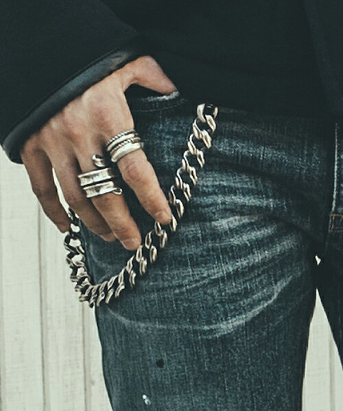 【CRIMIE(クライミー)】【予約販売10月下旬〜11月上旬入荷】C1G5-CXAG-MW01-MIGHTY MIDDLE WALLET CHAIN Argent Gleamコラボ喜平ウオレットチェーンMIDDLE:CAMBIO