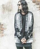 【NO ID.(ノーアイディー)】【予約販売9月下旬〜10月上旬入荷】441010-029K-NOID.×CAMBIO Gradation Cross Big Knit Pullover