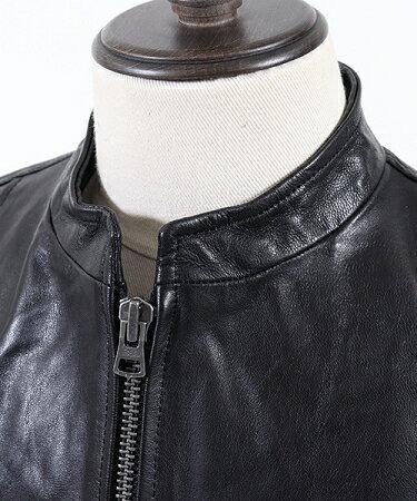 【CAMBIO(カンビオ)】シングルライダース-Goat Leather