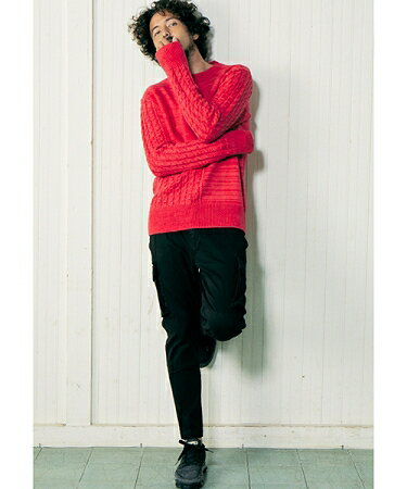 【daboro(ダボロ)】【予約販売10月中旬~下旬入荷】PANEL KNIT ニット(DKN013)