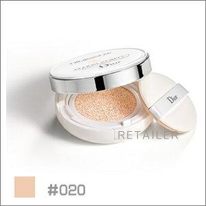 ♪#020 ケース付【Dior】クリスチャンディオールディオールスノーブルームパーフェクトクッション 15g×2<日焼け止め・化粧下地><UVカット・紫外線カット><SPF50 /PA+++><クッションファンデ>