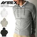 AVIREX(アビレックス/アヴィレックス)デイリーロングスリーブジップパーカー