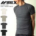 AVIREX(アビレックス/アヴィレックス)デイリーヘンリーネックシャツ/Tシャツ/カットソー/デイリーシリーズ/メンズレディース