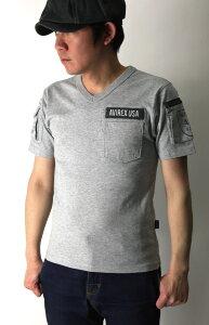【送料無料】AVIREX(アビレックス)Vネックファティーグ半袖Tシャツ