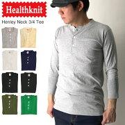 クーポン Healthknit ヘンリー Tシャツ カットソー コンビニ