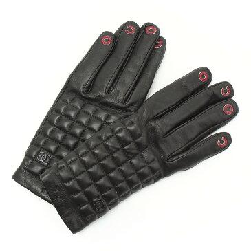【スーパーSALE 6/14 20:00〜開催】【シャネル】Chanel COCO チョコバー レザー グローブ 手袋 ブラック 8 【中古】【鑑定済・正規品保証】【送料無料】29516