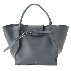 [Celine] Celine 18SS Big Bag Medium Tote Bag 182863 Slate [Used] [Assessed and Guaranteed Genuine] 74841
