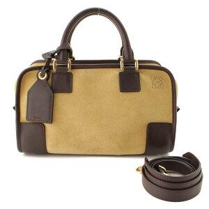[Loewe] Loewe Amazona 28 2WAY肩背包352.61.N03金色x棕色[二手] [评估和保证正品] 86346