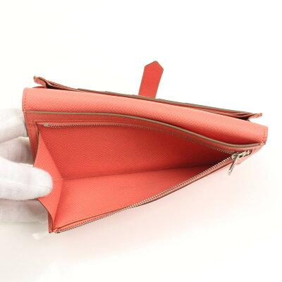 【エルメス】Hermesベアンスフレヴォーエプソン長財布フラミンゴ【】【鑑定済・正規品保証】【送料無料】16100