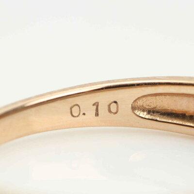 【ソノタ】K18PT950イエローゴールドリング指輪メレダイヤ0.10ct約10.5号【】【鑑定済・正規品保証】【送料無料】19794