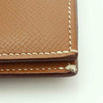 【エルメス】Hermesベアンコンパクトレザー2つ折り財布J刻ブラウン【】【鑑定済・正規品保証】【送料無料】22733