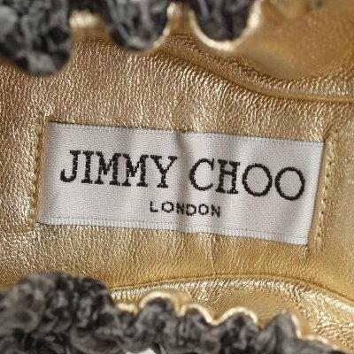 【ジミーチュウ】JimmyChooパイソンバレエシューズパンプスグレー【】【鑑定済・正規品保証】【送料無料】24183