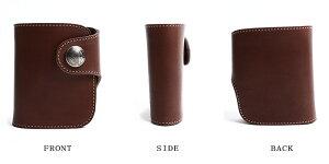 REDMOONレッドムーン別注二つ折り財布HR-01A-MIDコードバン茶メンズ二つ折り財布ショートウォレットレザー