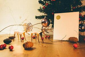 送料無料 メッセージカード DEER CARD ホワイトデー メッセージカード 手紙 おしゃれ グリーティングカード 母の日 かわいい 鹿 贈り物 プチギフト 皮革 デザイン クリスマス カード バースデーカード 封筒 文房具 トナカイ ユニーク 革 プレゼント