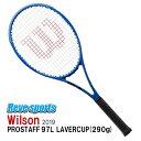 [国内正規品]Wilson(ウィルソン) PROSTAFF 97L LAVERCUP (プロスタッフ 97L レーバーカップ) 290g WR026611 硬式テニスラケット 2019年モデル
