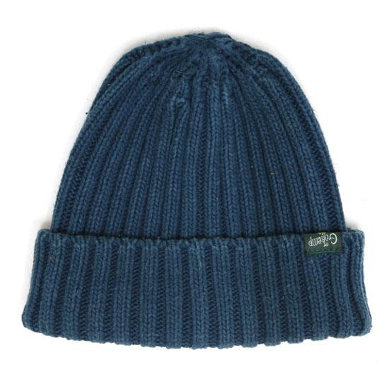 GO HEMP ゴーヘンプ RIB WATCH CAP (アジュールブルー)(ニット帽 コットンニット)