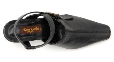 【DonCarlos】ちょっと深めでソフトな履き心地のアンクルストラップシューズ/ヒール6cm