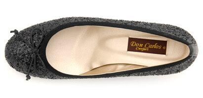 【DonCarlos】ラメで足元キレイ☆履いてワクワク♪デイリーに使えるウェッジ&リボンパンプス/ヒール5cm