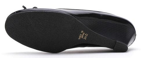 【DonCarlos】定番ブラックカラー☆ウエッジヒールの普段使いもOK!なレインパンプス/ヒール5cm