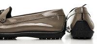 【MANILAmadeinitaly】イタリア製☆柔らかいインソール入りのドライビング風のエナメル素材のリボンモチーフのローファー/ヒール2cm