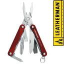 レザーマン スクォートPS4 マルチプライヤー [ レッド ] ミニプライヤー SquirtPS4|Leatherman ペンチ 携帯工具 マルチツールナイフ 十徳ナイフ 十得ナイフ 万能ナイフ サバイバルツール