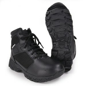 S&W タクティカルブーツ Breach サイドジップ ブラック [ 7W(約25.0cm) ] Smith Wesson ブリーチ Side Zip 軽量 通気性 コンバットブーツ 軍靴 半長靴 戦闘靴 ミリタリーブーツ サバゲーブーツ画像