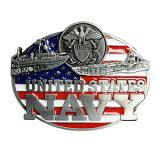 ベルトバックル 星条旗 アメリカ海軍 軍艦船 U.S.NAVY エンブレム Warship アメリカ国旗 Aircraft carrierベルト用バックル アメリカンバックル USAバックル BUCKLE メンズ 取替え用バックル