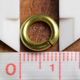 丸カン 真鍮 クラフトパーツ 線径2mm [ 10mm ] ハンドメイド アクセサリーパーツ ブラス レザークラフト ハンドクラフト 革紐細工