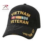 Rothco キャップ ベトナム ベテラン 9598 ブラック 帽子 アーミー ベースボール野球帽 メンズ ワークミリタリーハット ベースボールキャップ ミリタリーキャップ 通販 販売 軍用帽
