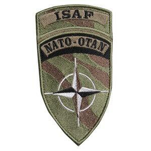 NATO軍 ワッペン ISAF ベルクロ付き パッチ [ カモ ] 国際治安支援部隊 アフガニスタン アップリケ ミリタリー 軍物 軍払い下げ品