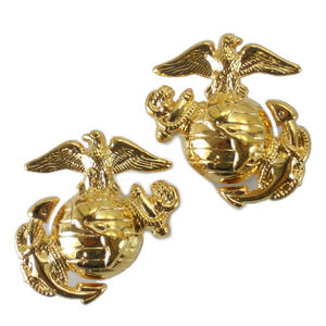 Rothco 軍事徽章海軍陸戰隊會徽 2 1548年螺杆海洋 | 針腳批軍事徽章標誌翻領別針肩章徽章章雪佛龍武器章類: