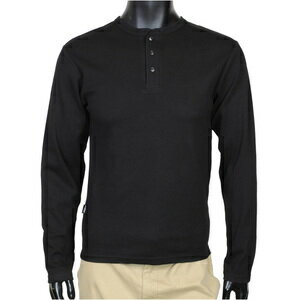 AVIREX 長袖 T 恤固體日常亨利 v 字領黑色 / l 618875 軍事襯衫長袖襯衫長 T 襯衫軍隊 t 恤男裝時尚上衣袖子列印軍事戶外愛好小玩意出售出售磨損