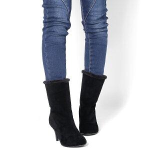 ショートブーツボア付き◆ff160◆(ベージュ肌色/ブラック黒)大きいサイズ3L(25.0cm)まで美脚ハイヒール7cm8cm暖かい歩きやすい幅広で痛くないレディース靴大人