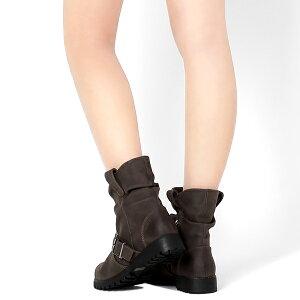 ヴィンテージスエードのエンジニアブーツ◆1-2583◆(オーク・ダークブラウン・ブラック黒)◆ショートブーツレディース靴大人
