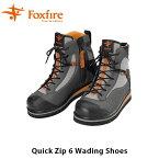 送料無料 フォックスファイヤー Foxfire メンズ クイックジップ6ウェーディングシューズ 釣り フィッシング 靴 水陸 男性用 Quick ZIP 6 Wading Shoes FOX5023853