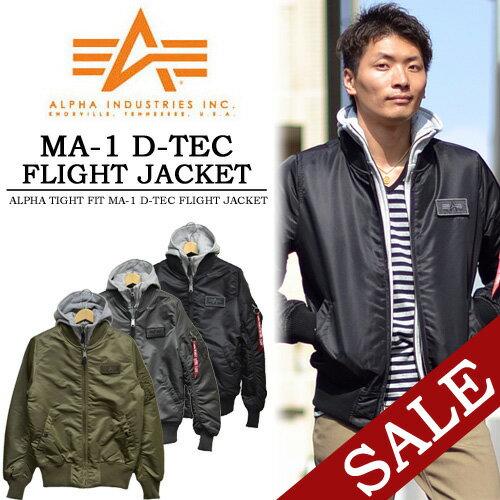 ALPHA アルファ MA-1 TIGHT D-TEC フライトジャケット ...