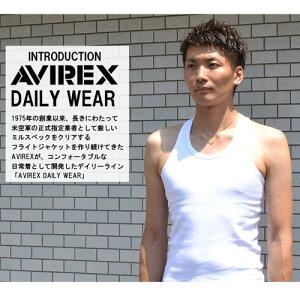 AVIREX(アビレックス)リブ素材タンクトップマッスルタンク無地メンズ半Tカットソーマッチョタンクトップス6183636143503【楽ギフ_包装】